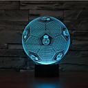billige Original belysning-1 stk 3D natlys Sensor Dæmpbar Vandtæt Farveskiftende LED Moderne / Nutidig