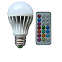 abordables Bombillas LED-B22 E26/E27 Bombillas LED de Globo A80 3 leds LED de Alta Potencia RGB Regulable Control Remoto Decorativa AC 85-265