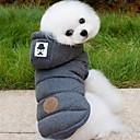 رخيصةأون ملابس الكلاب-كلب المعاطف هوديس ملابس الكلاب سادة رمادي أزرق قطن كوستيوم للحيوانات الأليفة للرجال للمرأة الدفء موضة