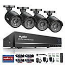 billige DVR-Sett-sannce® 8-kanals 4 i 1 720 hdmi AHD CCTV dvr 4 deler 1,0 mp ir utvendig sikkerhetskameraovervåkning