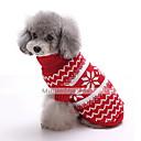 preiswerte Hundekleidung-Hund Pullover Hundekleidung Schneeflocke Dunkelblau / Rot Baumwolle Kostüm Für Haustiere Herrn / Damen Modisch / Weihnachten