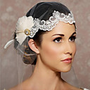 cheap Party Headpieces-One-tier Cut Edge Wedding Veil Headpieces with Veil 53 Organza