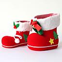 billige Kunstig Blomst-christmas hjem fest dekor santa claus boot sko strømpe barn barn godteri gaveholder poser xmas tree dekorasjon