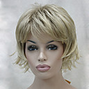 cheap Synthetic Capless Wigs-Synthetic Wig Wavy Layered Haircut / With Bangs Synthetic Hair Wig Women's Capless