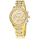 abordables Relojes de Pared Modernos y Contemporáneos-Xu™ Mujer Reloj de Pulsera Calendario Acero Inoxidable Banda Vintage / Casual / Moda Plata / Dorado / Oro Rosa / SSUO LR626