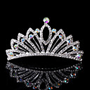 cheap Party Headpieces-Rhinestone Tiaras Hair Combs Headwear with Floral 1pc Wedding Special Occasion Casual Office & Career Headpiece