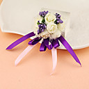 "cheap Wedding Flowers-Wedding Flowers Wrist Corsages Unique Wedding Décor Special Occasion Party / Evening Satin 1.18""(Approx.3cm)"