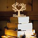 baratos Decorações para Casamento-Decorações de Bolo Tema Borboleta Monograma Resina Casamento com 1 PPO