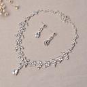 abordables Pendientes-Mujer Conjunto de joyas - Incluir Los sistemas nupciales de la joyería Plata Para Boda Fiesta