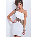 cheap Boys' Shoes-Women's Club Bodycon Sheath Dress - Solid Colored White, Lace Mini One Shoulder