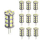 billige Spotlys med LED-10pcs 3 W 150-200 lm G4 LED-lamper med G-sokkel T 24 LED perler SMD 5050 Mulighet for demping / Dekorativ Varm hvit / Kjølig hvit 12 V / 10 stk. / RoHs