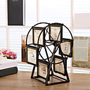 cheap Tabletop Picture Frames-Retro Ferris Wheel Rotate Picture Multi-Frame European Retro Large Windmill Children Room Photo Frames Wedding Home Decor