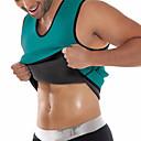 olcso Védőfelszerelések-férfiak ultra verejték termikus izom póló forró formáló neoprén fogyás test alakítója has derék és a has öv shapewear felsők mellény