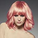 baratos Perucas Sintéticas sem Touca-Perucas sintéticas Onda de Corpo Rosa Cabelo Sintético Rosa Peruca Mulheres Sem Touca Rosa / Sim
