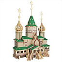 cheap Wooden Puzzles-Building Blocks Wooden Puzzle Construction Set Toys Fighter Aircraft Famous buildings Professional Level Wooden 1 pcs Russian Kid's Adults' Boys' Girls' Toy Gift / Educational Toy