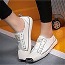 baratos Mocassins Femininos-Mulheres Sapatos Courino Primavera Conforto Tênis Branco / Preto