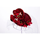 cheap Party Headpieces-Flannelette / Alloy Hats with 1 Wedding / Special Occasion / Outdoor Headpiece