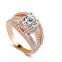 cheap Jewelry Sets-Women's Ring - Imitation Diamond Luxury 6 / 7 / 8 Gold / Silver For Wedding / Party
