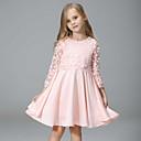 billige Pigekjoler-piges daglige patchwork kjole, rayon polyester forår høst 3/4 længde ærmer street chic