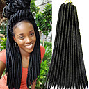 cheap Hair Braids-Braiding Hair Havana Faux Locs 100% kanekalon hair 24 roots / pack Hair Braids Soft / Crochet Faux Dreads / Dread Locks African Braids