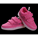abordables Botas de Hombre-Chica Zapatos PU Otoño Confort Zapatillas de Atletismo Paseo Con Cordón / LED para Blanco / Negro / Fucsia