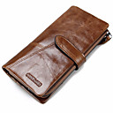cheap Wallets-Men's Bags Cowhide Checkbook Wallet / Bi-fold for Shopping / Sports / Outdoor Black / Coffee / Brown