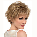 cheap Synthetic Wigs-Synthetic Wig Curly Pixie Cut / With Bangs Synthetic Hair Blonde Wig Women's Short Capless