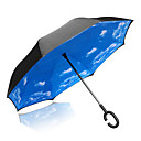 cheap Umbrella/Sun Umbrella-1pcs Plastic Sun umbrella Sunny and Rainy Rainy Long-handle Umbrella