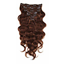 cheap Human Hair Capless Wigs-Clip In Human Hair Extensions Body Wave Virgin Human Hair Human Hair Extensions Brazilian Hair Women's Brown