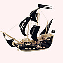 cheap 3D Puzzles-Wooden Puzzle Wooden Model Ship Pirates Pirate Ship Pirate Professional Level Wooden 1 pcs Kid's Adults' Boys' Girls' Toy Gift