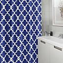 preiswerte Duschvorhänge-Duschvorhänge Neoklassisch Polyester Schottenstoff / Kariert Maschinell gefertigt