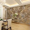 billige Abstrakte malerier-Blomstret Art Deco 3D Hjem Dekor Moderne Tapetsering, Lerret Materiale selvklebende nødvendig Veggmaleri, Tapet