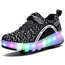 cheap Cookie Tools-2017 Kids Boy Girl's Roller Skate Shoes / Ultra-light One Two Wheel Skating LED Light Shoes / Athletic / Casual LED Shoes Black Pink Blue