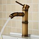 cheap Bathroom Sink Faucets-Antique Modern Centerset Widespread Ceramic Valve Single Handle One Hole Chrome, Bathroom Sink Faucet