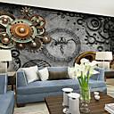 billige Trykk-Blomstret Art Deco 3D Hjem Dekor Moderne Tapetsering, Lerret Materiale selvklebende nødvendig Veggmaleri, Tapet