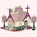 cheap 3D Puzzles-Jigsaw Puzzles Wooden Puzzles Building Blocks DIY Toys American Garden House 1 Wood Ivory Model & Building Toy