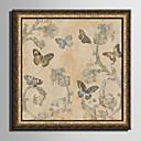 hesapli Elbise Saat-Çerçeveli Tuval Çerçeve Seti Hayvanlar Çiçek/Botanik Duvar Sanatı, PVC Malzeme Frame ile Ev dekorasyonu çerçeve Sanat Oturma Odası