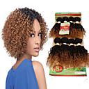 Недорогие Накладки из неокрашенных волос-Бразильские волосы Кудрявый Кудрявое плетение 8A Натуральные волосы Омбре Ткет человеческих волос Расширения человеческих волос