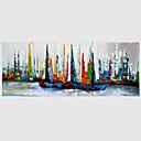 baratos Adesivos de Parede-Pintura a Óleo Pintados à mão - Abstrato Modern Tela de pintura / Lona esticada