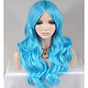 abordables Pelucas-Pelucas sintéticas Ondulado Amplio Pelo sintético Azul Peluca Mujer Larga / Muy largo Sin Tapa