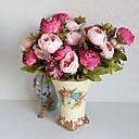 hesapli Suni Çiçek-Yapay Çiçekler 1 şube Avrupa Tipi Şakayıklar Masaüstü Çiçeği