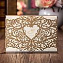 olcso Esküvői meghívók-Felöltő & Zseb Esküvői Meghívók Meghívók Klasszikus stílus Kártyapapír