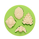 abordables Utensilios de Horno-Herramientas para hornear Silicona Ecológica / Antiadherente / Vacaciones Pastel / Galleta / Cupcake Herramienta de decoración