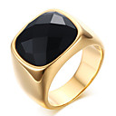 cheap Rings-Men's Onyx Statement Ring / Ring - Stainless Steel Princess Classic 8 / 9 / 10 Gold For Party / Party / Evening / Daily / Casual