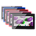 hesapli Tabletler-A33 7 inç Android Tablet (Android 4.4 1024 x 600 Quad Core 512MB+8GB) / TFT / # / 32 / TFT / Mikro USB