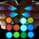 cheap Nail Glitter-12pcs Glitter Powder Luminous / 12 Colors nail art Manicure Pedicure Chic & Modern Party Evening / Daily