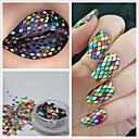 billige Nail Glitter-1 pcs Glitter Pailletter Negle kunst Manicure Pedicure Daglig glitter / Mode