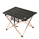 cheap Camp Kitchen-Camping Table Outdoor Portable, Lightweight, Collapsible Aluminium for Fishing / Hiking / Beach Black