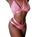 cheap Human Hair Wigs-Women's Lace Sexy Lace Lingerie Nightwear Solid Colored