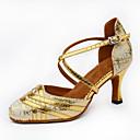 preiswerte Schuhe für Zeitgenössischen Tanz-Damen Schuhe für den lateinamerikanischen Tanz Glitzer Absätze Glitter / Schnalle Keilabsatz Maßfertigung Tanzschuhe Gold / Schwarz /